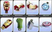 LED Iron man model usb2.0 4GB 8GB 16GB 32GB flash memory stick pendrive