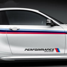 2x Big Car Sports Styling Sticker Side Door Decal For BMW X3 X4 X5 X6 M3 M5