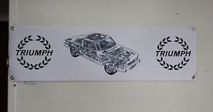 triumph stag  large pvc banner  garage  work shop classic car show banner