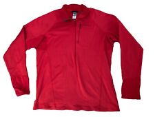 Patagonia Regulator 1/4 Zip Red Waffle Fleece Pullover Baselayer Mens Xl Thermal