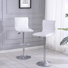 Set of 2 Bar Stools PU Leather Modern Hydraulic Swivel Set Dinning Kitchen Chair