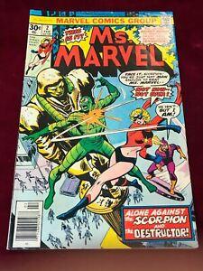 1977 Marvel Comic Ms. MARVEL #2 Newsstand Variant F/VF  (TT02)
