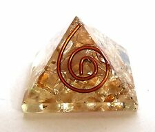 REIKI ENERGY CHARGED CITRINE CRYSTAL ORGONE PYRAMID POWERFUL ENERGY GENERATOR