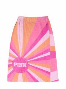 "Victoria's Secret Pink Striped Wrap Towel 50"" L Unwrapped"