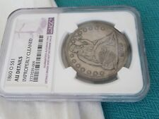 1860 0 SEATED LIBERTY SILVER DOLLAR $1 US COIN NGC AU DETAILS US COIN
