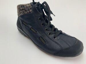 Rieker ladies blue lace-up ankle boots, UK 3.5/ EU 36, BNWB