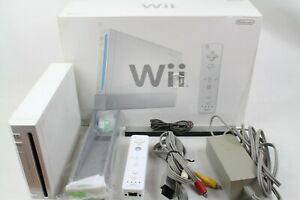 NINTENDO WII WHITE CONSOLE RVL-001 box CONTROLLER japan tested working