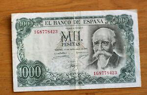1000 Pesos,Bank of Spain, 1971.