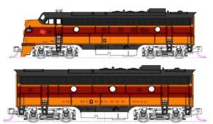 Kato Milwaukee Road FP7A/F7B 2 Diesel Locomotive Set N Scale 106-0430 DCC Ready