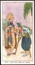 India Proverb Give A Loan And Make An Enemy Original 1930s Trade Card
