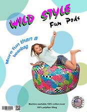 NEW Cool Bean Bag great gift for kids BEANBAG CHAIR ages 2+ SAFE - WILD STYLE