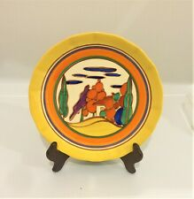 """Clarice Cliff 7 Colour """" Trees and House"""" Plate"""