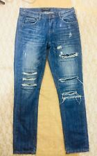 Joe Fresh Boyfriend Blue Jeans Size 0/25 Garconne Ample Distressed  Destroyed
