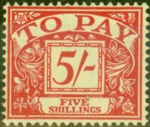 GB 1955 P.Due 5s Scarlet-Yellow SGD55 V.F MNH