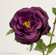 6 rosas Flores premium conservado violeta berenjena preserved Rose 8-8,5 cm