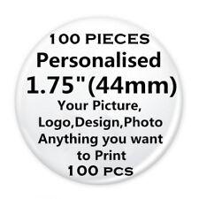 "100 Custom Personalised COMIC MOVIE PinBack Pin Button Badge pinback 1.75"" 44mm"