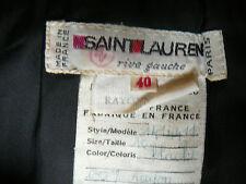Yves St. Laurent Rive Gauche Vintage Black Silky Velvet Skirt Luminous Elegant