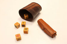 parker made in england vintage bachelite dice poker old school casinò + dice cup