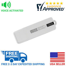 SpygearGadgets Voice Activated USB Flash Drive Spy Audio Digital Recorder White
