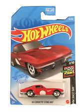 Hot Wheels 2021 HW Race Day 2/10 Red '64 Corvette Sting Ray