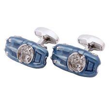 Men's Novelty Jewelry Blue Enamel Race Car Cufflinks Discount Personalized Gift