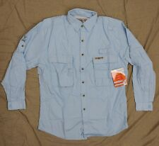 Hook & Tackle Insect Shield Mens Light Blue Sportsmans Vented Shirt SZ M ~ New!