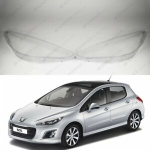 Peugeot 308 (2007 - 2011) OEM Headlight Glass Headlamp Lens Cover PAIR
