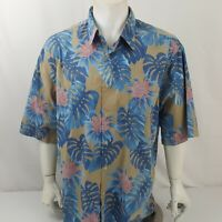 Reyn Spooner Men's Short Sleeve Shirt Size XXL Cotton Floral Hawaiian Aloha EUC