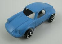 "TootsieToy Porsche Diecast Car Baby Blue Vintage Chicago USA Tootsie Toy 2"" Long"