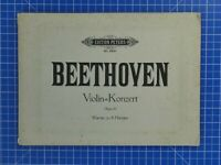 Edition Peters No.9924 Beethoven Violin Konzert Op.61 Klavier zu 4 Händen B18898