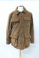 TRUSSARDI Men's Brown Cotton Collared Long Sleeve Twill Velvet Jacket IT52 UK42