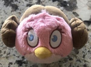 "Angry Birds~Star Wars Princess Leah Bird~10-12"" Plush Stuffed Animal Pillow."