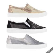 Zapatillas deportivas de mujer planos textiles