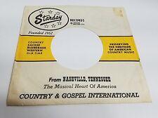 STARDAY Records Company 45 Sleeve Original 1960's