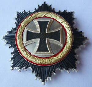 Orden Deutsches Kreuz 1941 in Gold Feldspange Uniform Weltkrieg 57er 57 2.WK WW