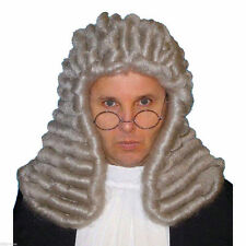 Judge Barrister Colonial Deluxe Wig Men's Fancy Dress Costume Accessory