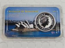 GEM BU Australia 2001 1 oz Silver Kookaburra $1 One Dollar Coin Littleton CB238