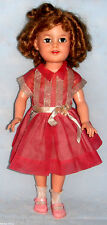 """VTG 1950's IDEAL Doll ST-17-1 SHIRLEY TEMPLE 17"""" FLIRTY EYES Doll in Party Dress"""