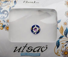 Bindi bijoux de peau front ht de gamme rond fleur strass 11mm violet ING B 3652