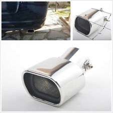 1X DIY Chrome Curved 63mm Stainless Steel Car Exhaust Tail Rear Muffler Tip Pipe