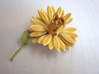 Sonnenblume - Vintage Brosche Siebziger Mid Century Metall Blume Bohemia1973