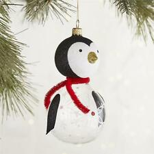 European Glass Clear Body Penguin Ornament  Pier 1 Imports New Christmas New