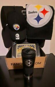 """NFL FAN PITTSBURGH STEELERS HAT,TRUMBLER,PHOTO FRAME,15""""X25"""" FAN TOWEL"""