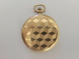Taschenuhr Gold Remontair Ancre Ligne Droite Levees Visibles 15 Rubis
