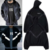 INS FEAR OF GOD FOG ESSENTIALS Jackets Reflective Coats Zipper Hoodie Tops S-XL