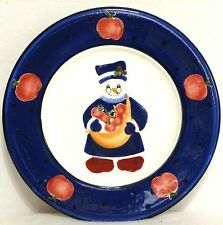 """BLOCK GEAR FATHER CHRISTMAS SNOW PEOPLE 8"""" SALAD PLATE - Snowgranny with Apples"""