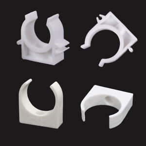 White Plastic PPR Heat Fusion Plumbing Pipe Tube Clips Clamps Holder 16mm~50mm