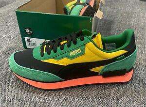 Puma Future Rider Game On Green/Black/Yellow BRAND NEW Size 10.5