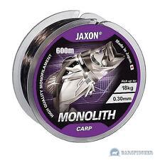 600m ANGELSCHNUR JAXON MONOLITH CARP, MONOFILE KARPFENSCHNUR, GRUNDANGELN, NEU