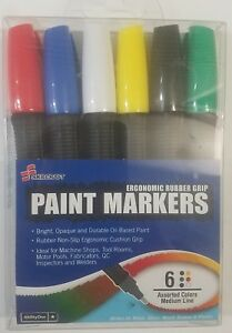 Skilcraft Ergonomic Rubber Grip Paint Markers Oil Based Medium Point